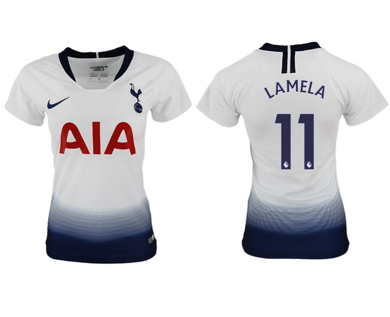 Women 2018-2019 club Tottenham Hotspur home aaa version 11 white soccer jersey