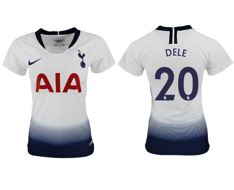 Women 2018-2019 club Tottenham Hotspur home aaa version 20 white soccer jersey