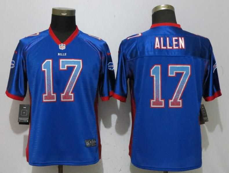 Women Buffalo Bills 17 Allen Drift Fashion Blue New Nike Elite NFL Jerseys