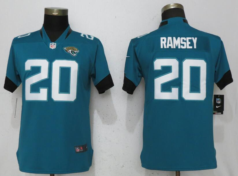 Women Jacksonville Jaguars 20 Ramsey Green Vapor Untouchable Player Nike NFL Jerseys