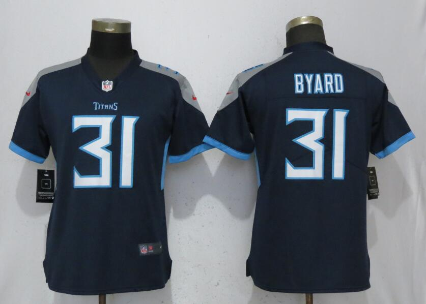 Women Tennessee Titans 31 Byard Navy Blue 2017 Vapor Untouchable Elite Player Nike NFL Jerseys