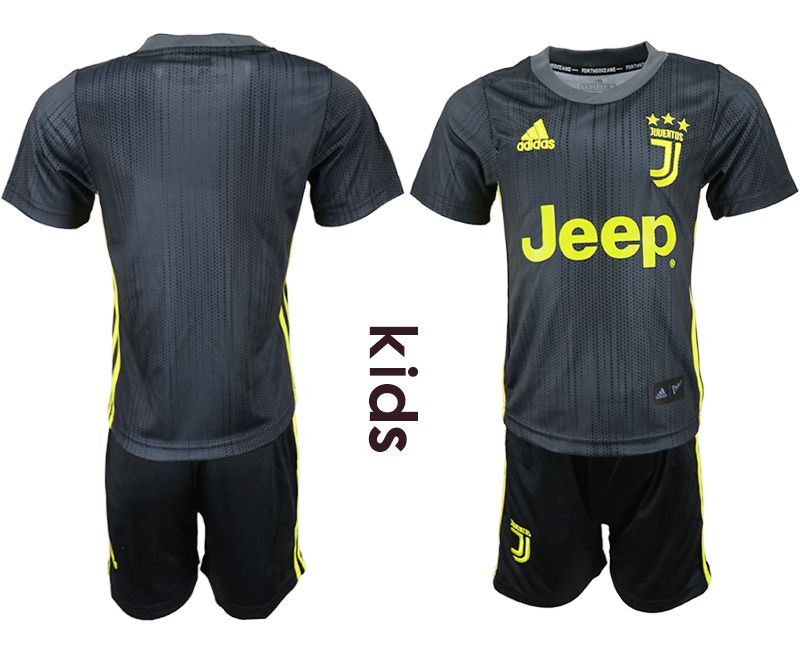 Youth 2018-2019 club Juventus FC away black soccer jersey