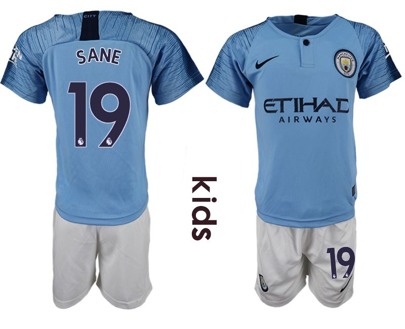Youth 2018-2019 club manchester city home 19 blue soccer jersey
