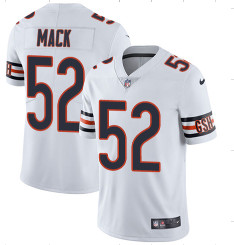 2018 Men Chicago Bears 52 Mack White Nike Vapor Untouchable Limited Player NFL Jerseys