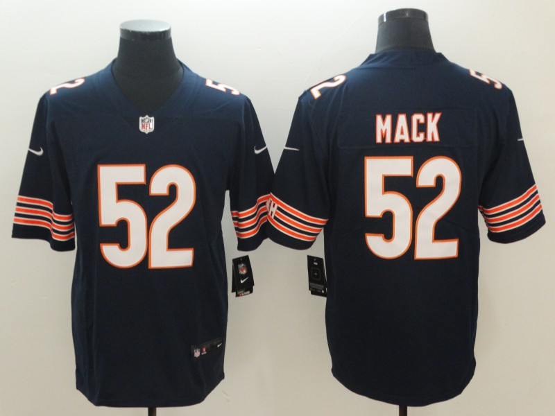 2018 Men Chicago Bears 52 Mack blue Nike Vapor Untouchable Limited NFL Jerseys