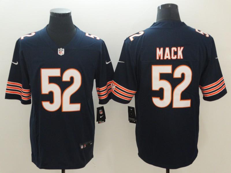 2018 Men Chicago Bears 52 Mack blue Nike Vapor Untouchable Limited NFL  Jerseys 2bae41aca
