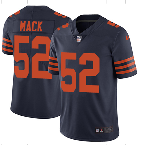 2018 Men Chicago Bears 52 Mack blue Nike Vapor Untouchable Limited Player NFL Jerseys