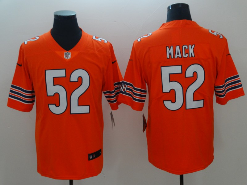 2018 Men Chicago Bears 52 Mack red Nike Vapor Untouchable Limited Player NFL Jerseys