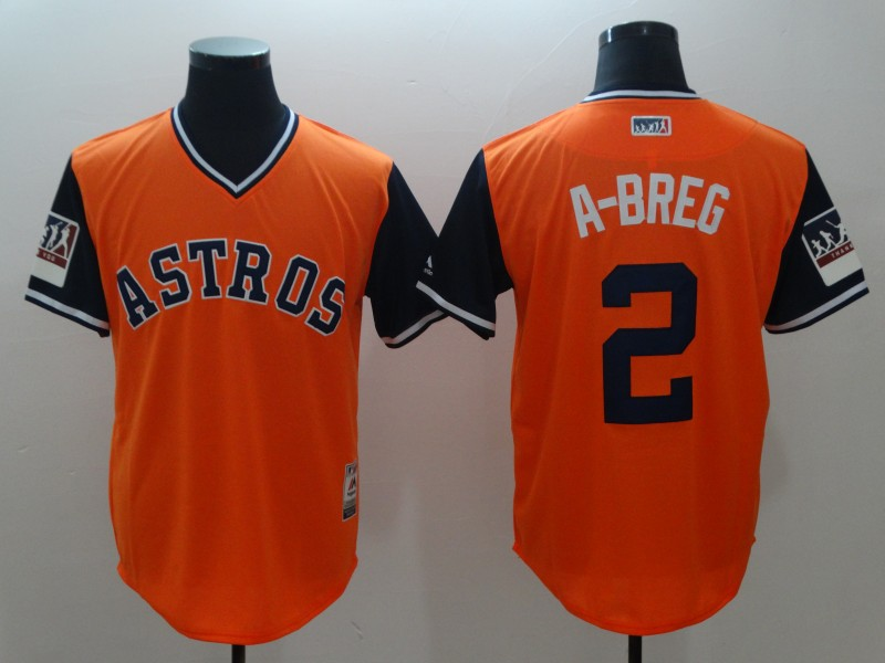 2018 Men Houston Astros 2 A breg orange new rush limited MLB jerseys
