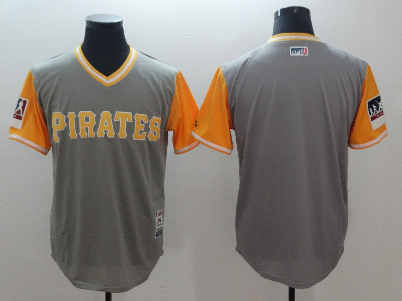 2018 Men Pittsburgh Pirates Blank Grey New Rush limited MLB Jerseys