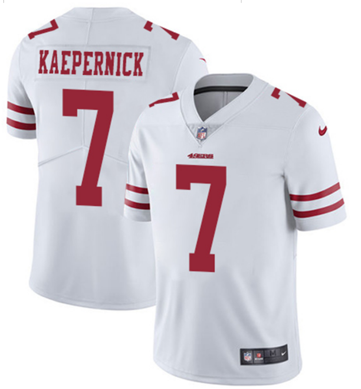 2018 Men San Francisco 49ers 7 Kaepernick white Nike Vapor Untouchable Limited NFL Jerseys