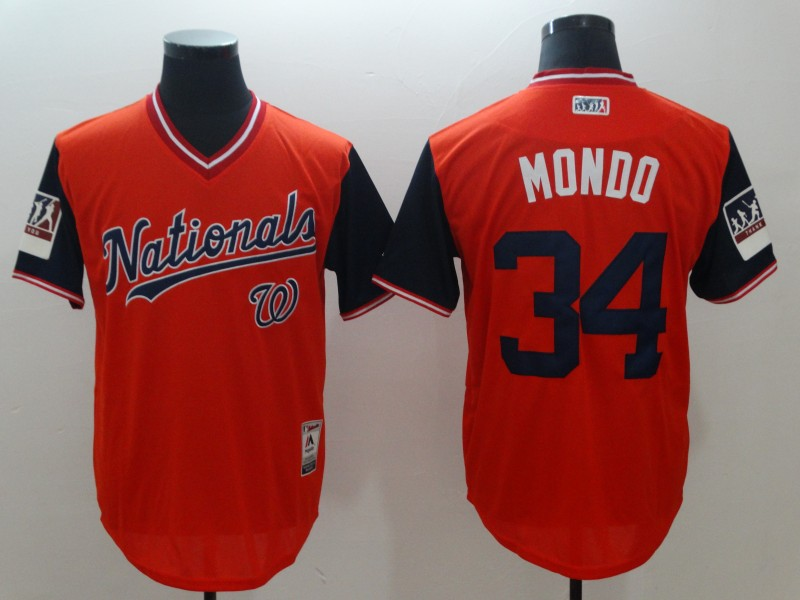 2018 Men Washington Nationals 34 Mondo red New Rush Limited MLB Jerseys