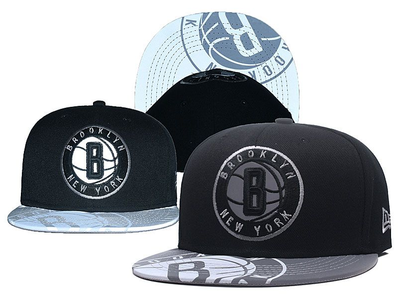 2018 NBA Brooklyn Nets Snapback hat GSMY0903