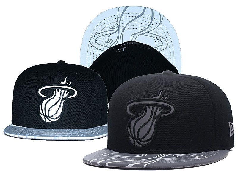 2018 NBA Miami Heat Snapback hat GSMY0903