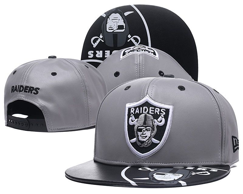 2018 NFL Oakland Raiders Snapback hat GSMY09031