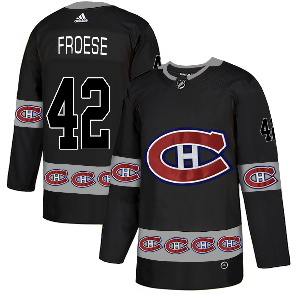 2018 NHL Men Montreal Canadiens 42 Froese black jerseys