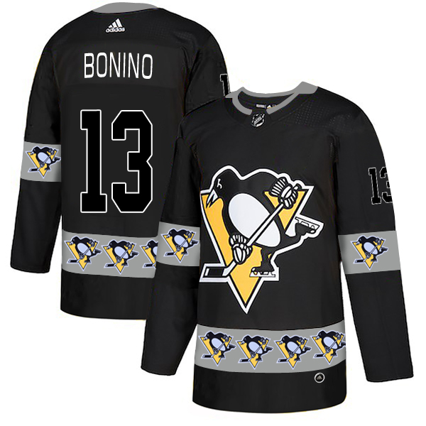 2019 Men Pittsburgh Penguins 13 Bonino black Adidas NHL jerseys