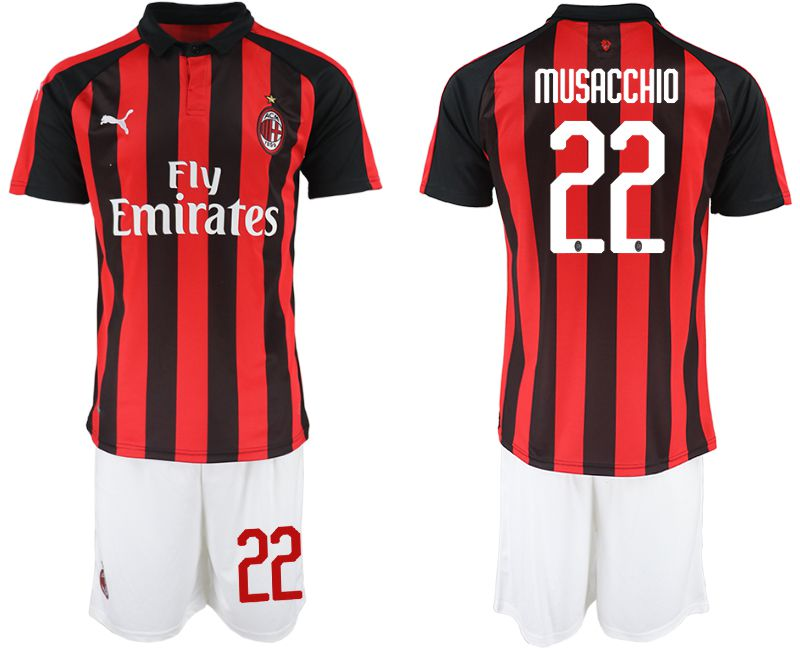 Men 2018-2019 club AC milan home 22 red soccer jerseys