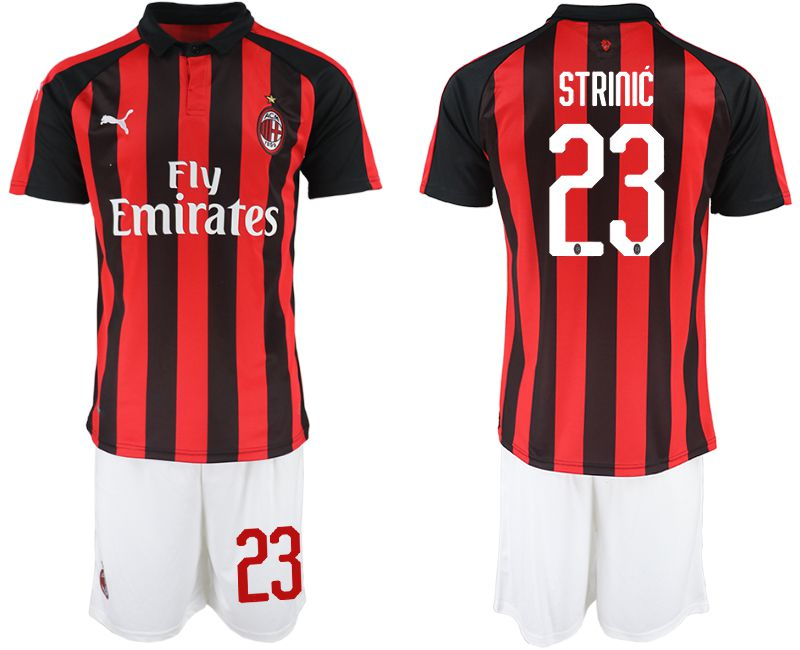 Men 2018-2019 club AC milan home 23 red soccer jerseys