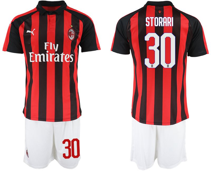 Men 2018-2019 club AC milan home 30 red soccer jerseys