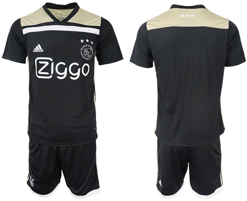 Men 2018-2019 club AFC Ajax away blank black soccer jersey