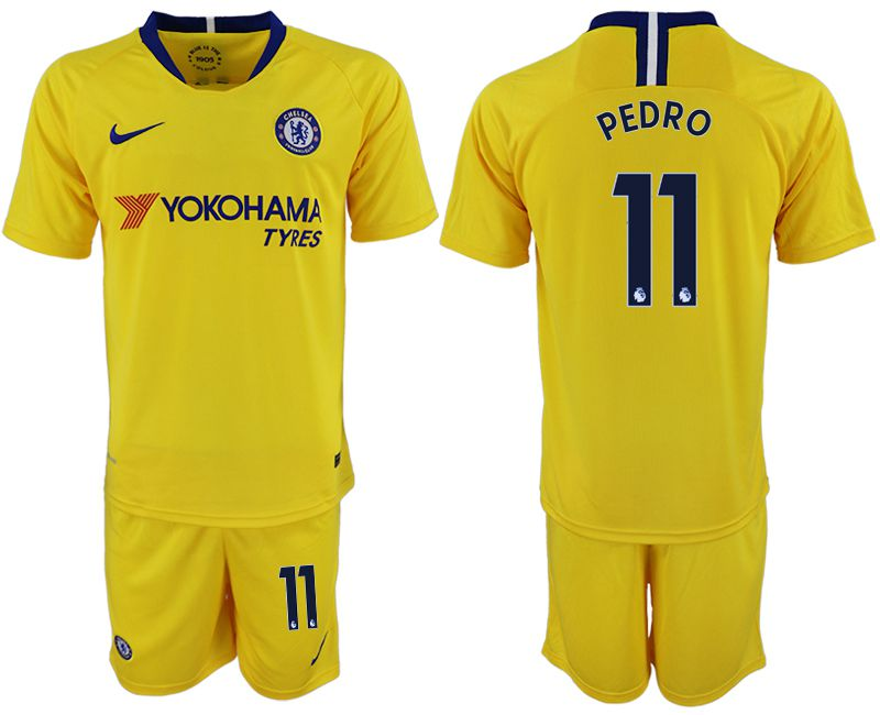 Men 2018-2019 club Chelsea away 11 yellow soccer jersey