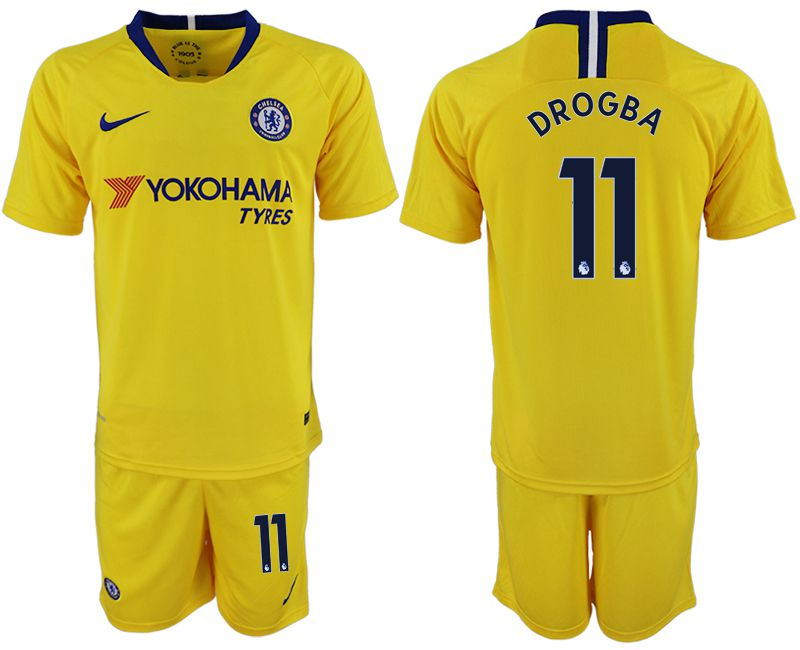 Men 2018-2019 club Chelsea away 11 yellow soccer jersey1