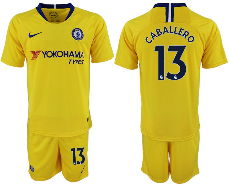Men 2018-2019 club Chelsea away 13 yellow soccer jersey