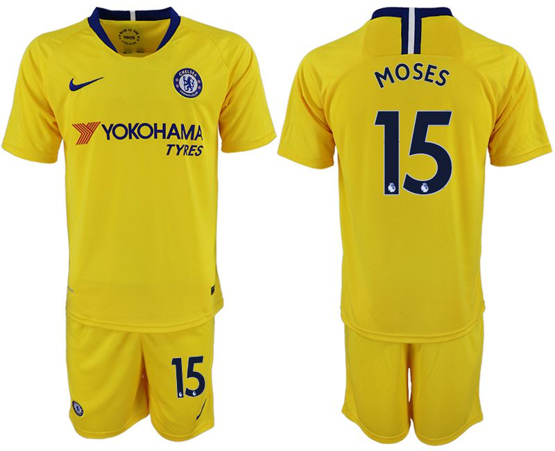 Men 2018-2019 club Chelsea away 15 yellow soccer jersey