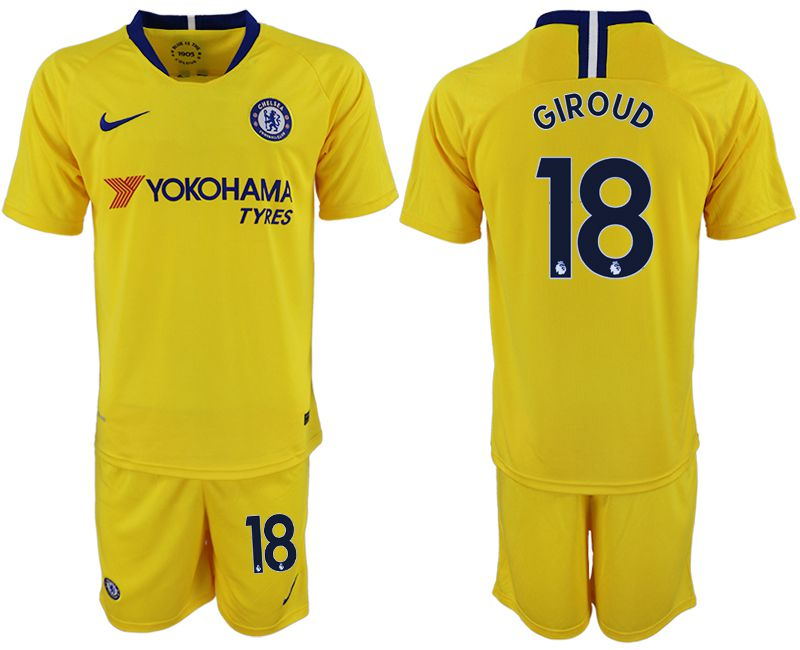 Men 2018-2019 club Chelsea away 18 yellow soccer jersey