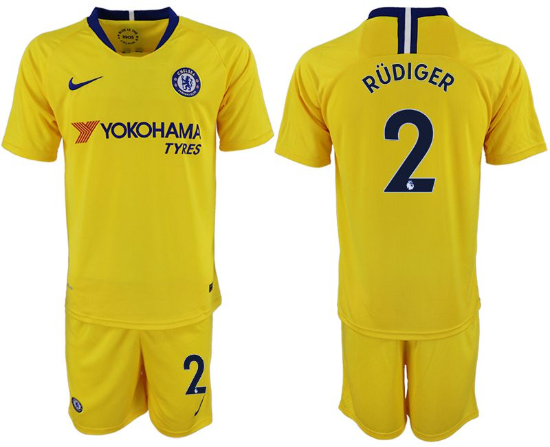 Men 2018-2019 club Chelsea away 2 yellow soccer jersey