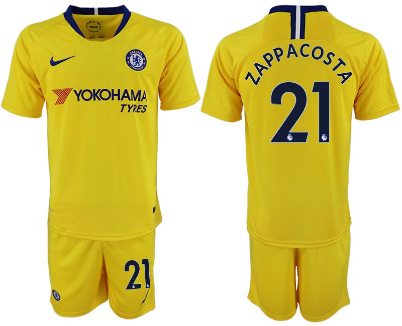 Men 2018-2019 club Chelsea away 21 yellow soccer jersey