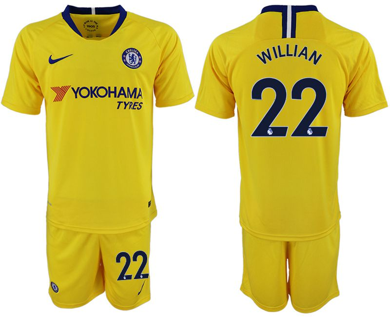 Men 2018-2019 club Chelsea away 22 yellow soccer jersey