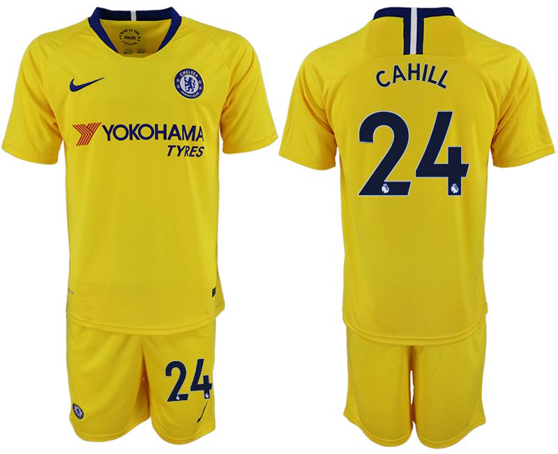 Men 2018-2019 club Chelsea away 24 yellow soccer jersey