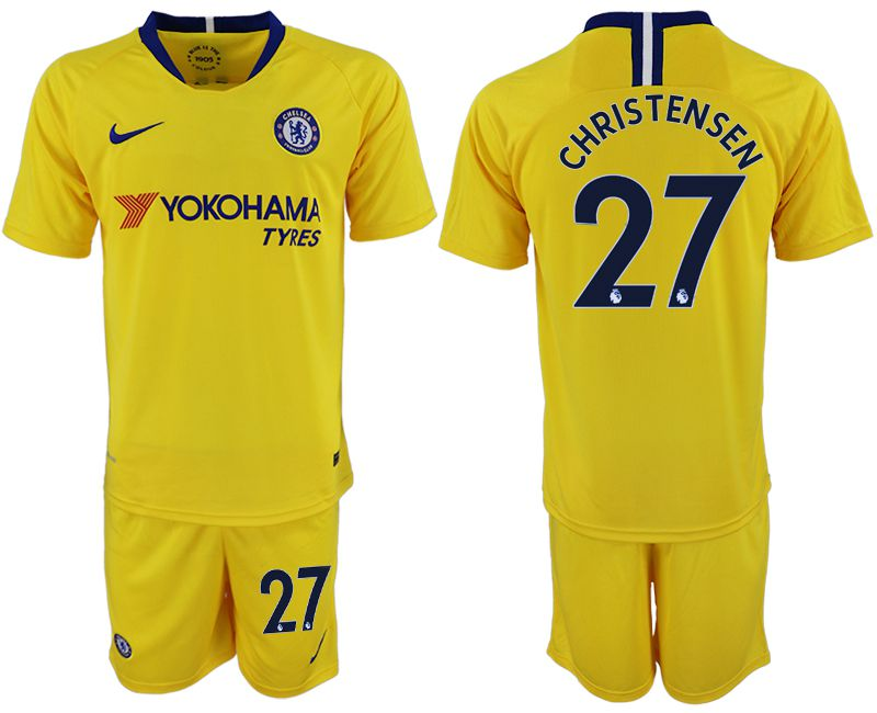 Men 2018-2019 club Chelsea away 27 yellow soccer jersey