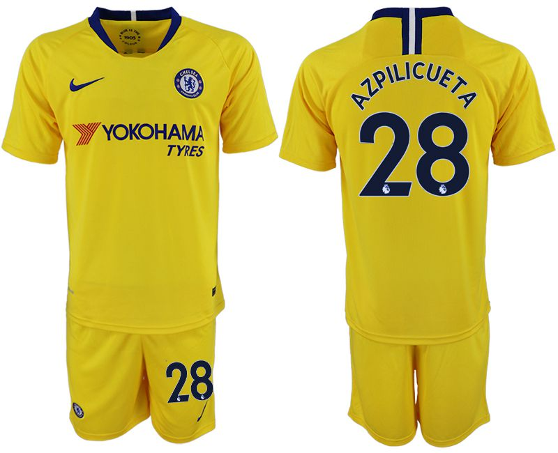 Men 2018-2019 club Chelsea away 28 yellow soccer jersey