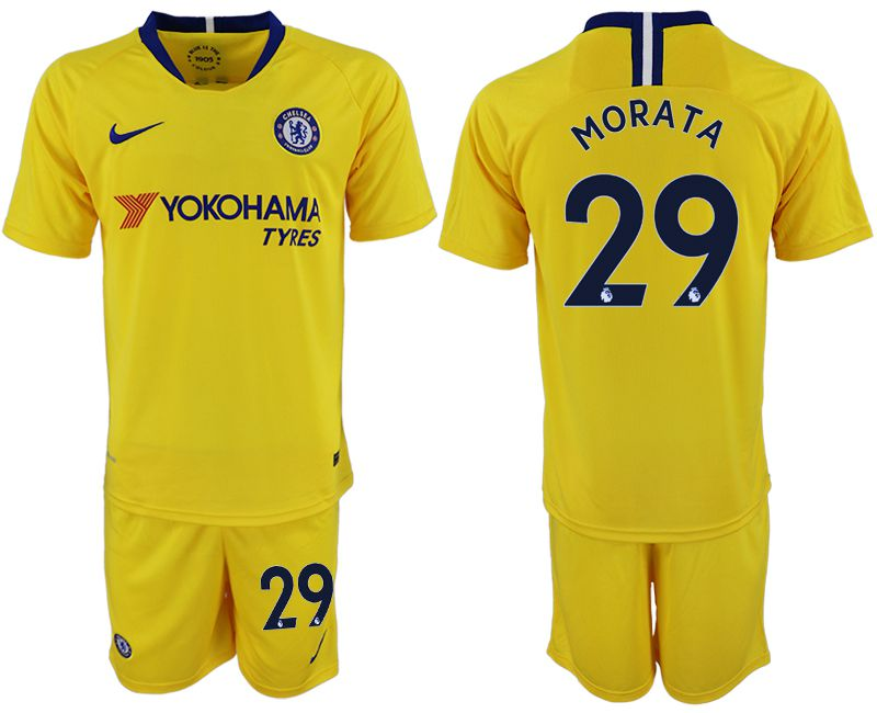 Men 2018-2019 club Chelsea away 29 yellow soccer jersey