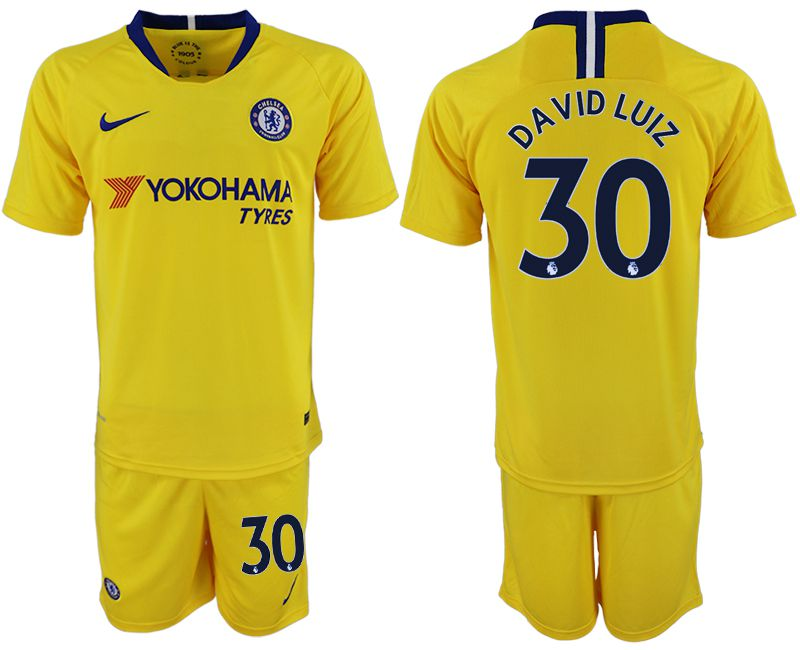 Men 2018-2019 club Chelsea away 30 yellow soccer jersey