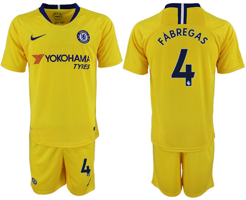 Men 2018-2019 club Chelsea away 4 yellow soccer jersey