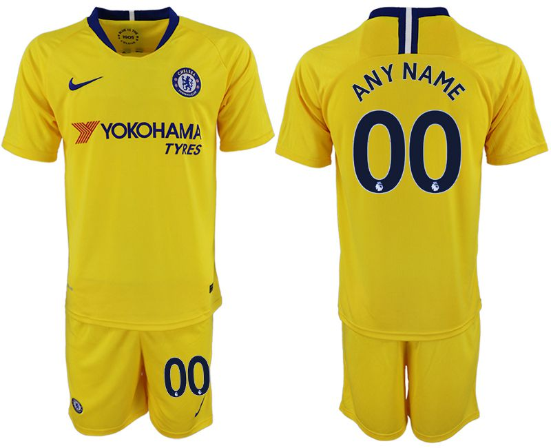 Men 2018-2019 club Chelsea away customized yellow soccer jerseys