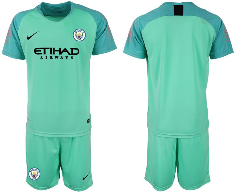 Men 2018-2019 club Manchester City FC green goalkeeper soccer jersey
