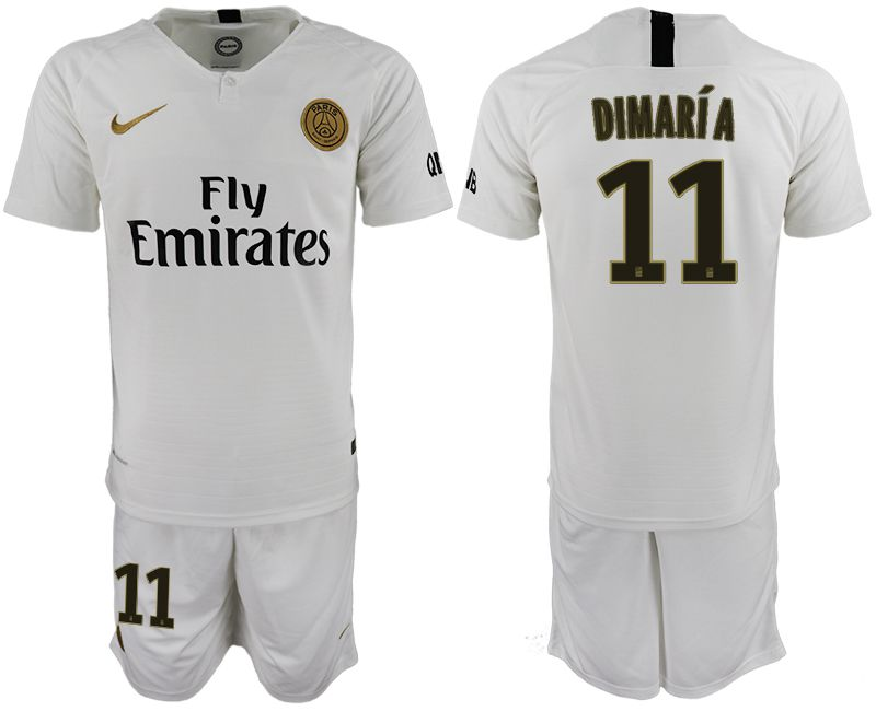 Men 2018-2019 club Paris Saint-Germain away 11 white soccer jerseys
