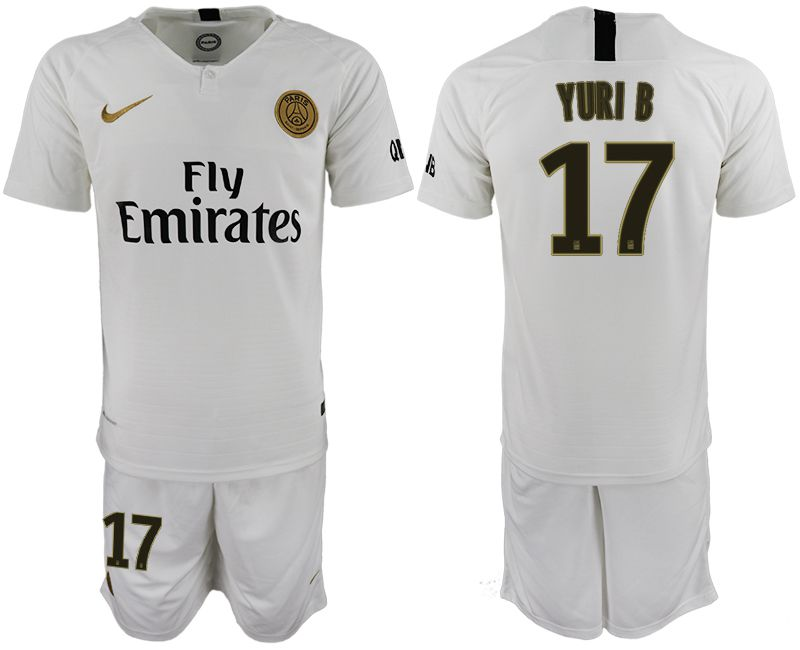 Men 2018-2019 club Paris Saint-Germain away 17 white soccer jerseys
