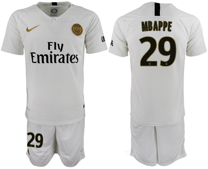 Men 2018-2019 club Paris Saint-Germain away 29 white soccer jerseys