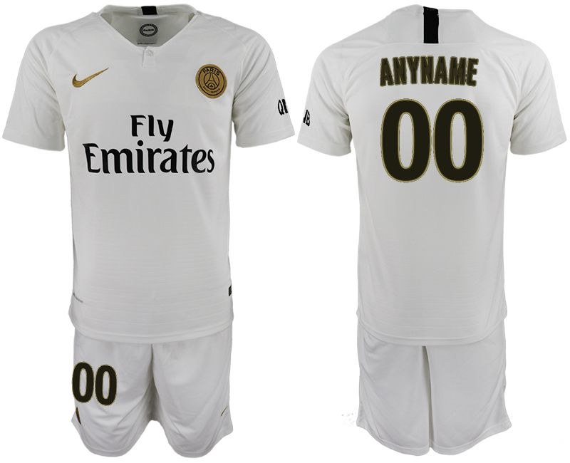 Men 2018-2019 club Paris Saint-Germain away customized white soccer jerseys