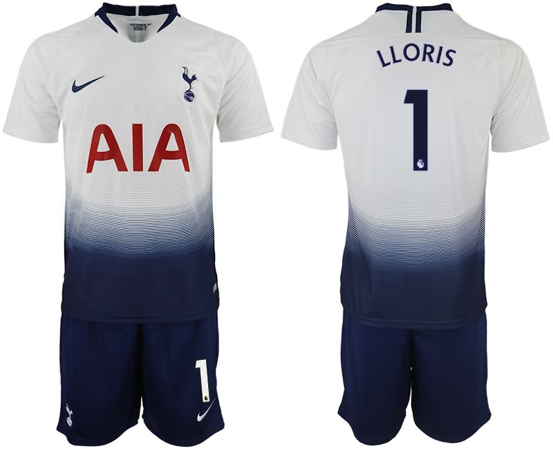 Men 2018-2019 club Tottenham Hotspur home 1 white soccer jerseys
