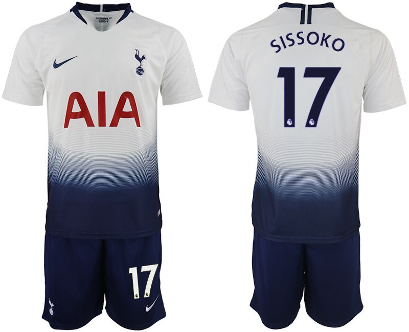 Men 2018-2019 club Tottenham Hotspur home 17 white soccer jerseys