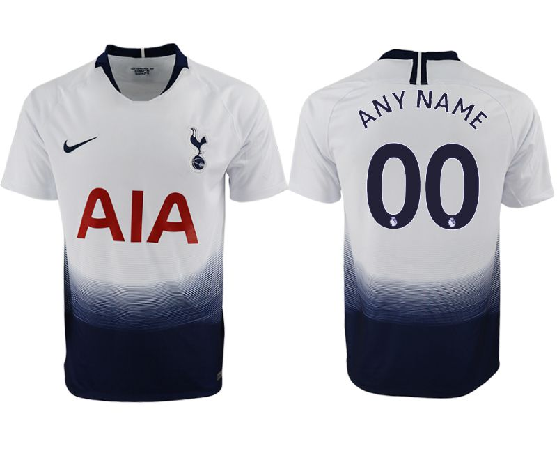Men 2018-2019 club Tottenham Hotspur home aaa versio customized white soccer jersey