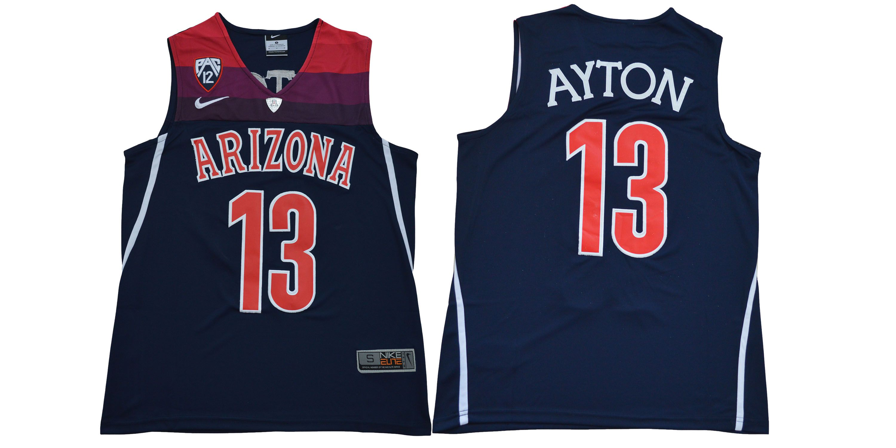 Men Arizona Wildcats 13 Ayton Blue NBA NCAA Jerseys