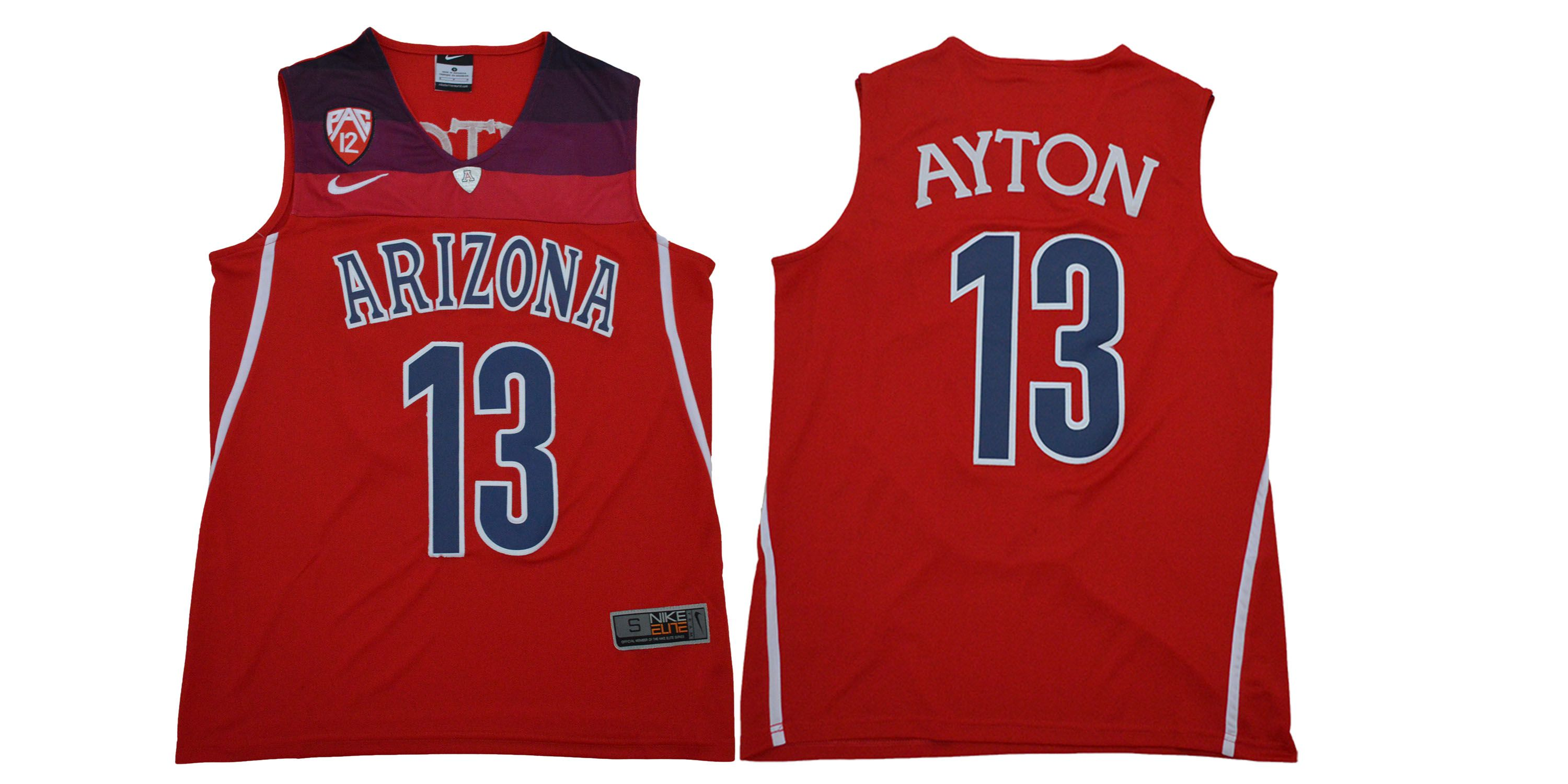 Men Arizona Wildcats 13 Ayton Red NBA NCAA Jerseys